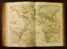 1854c,SPRUNER ATLAS: Proiezione Mercatore Colonie Britanniche,nel Mondo..ETNA