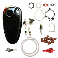 Fuel Tank Petcock&CNC Red Fuel Filter For 66/80cc 2 Stroke Engine Motorized Bike