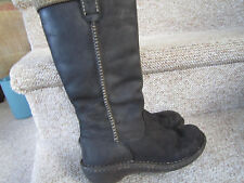UGG Australia Uggs Womens 5 Swell 5139 Black Leather Winter Boots   NICE!!!