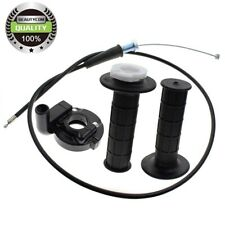 NEW FOR MONSTER MOTO 80CC MINI BIKE, TWIST HANDLE GRIPS THROTTLE CABLE & CLAMP