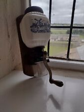 More details for vintage west german windmill delftware wall mounted coffee grinder