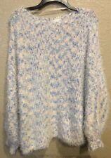 JOA Los Angeles Sweater Feathery & Nubby •Oversized Pullover• Sz S