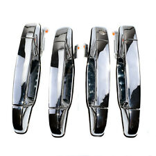 Set Of 4 Outside Exterior Door Handle Chrome Kit For Chevy Tahoe Gmc Yukon 07-13