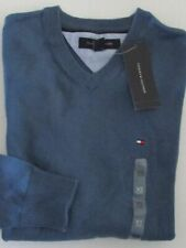 NWT Tommy Hilfiger V-Neck Pullover Sweater Pacific Blue Size XS