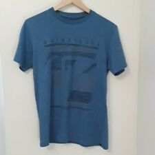 Quicksilver - Blue Surfer Skater T-shirt with Design - Small - Good Condition