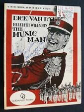 DICK VAN DYKE SIGNED Vintage Broadway Program THE MUSIC MAN with 1980s tickets!