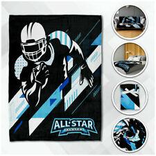 Football Plush Blanket 50x60 Football All Star Blanket Kid Throw Blanket Sports