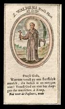 santino incisione 1600 S.WHALERO PRETE M. dip. a mano