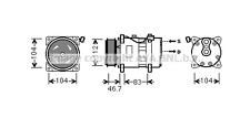 VW Transporter VW Caravelle 2.0/2.5 Aire Acondicionado Compresor 1990-2003