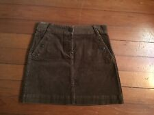 J. Crew Brown Chocolate Corduroy Mini Skirt Straight Pencil Short Size 2 NWOT