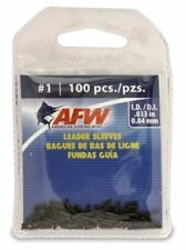 Afw #1 Black Leader Sleeves .033 in (.84 mm) New! #J01B-B 100 Pack Single Barrel