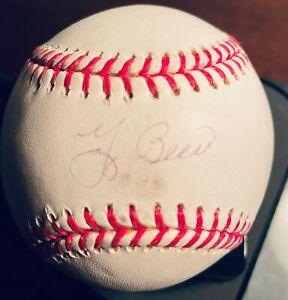 Yogi Berra Signed OML Baseball Steiner COA New York Yankees HOF Autograph Auto