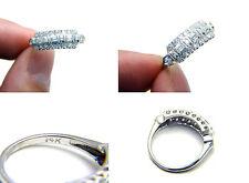 Estate Antique Art Deco .40ct Diamond 3 Row Wedding Engagement Cluster Band Ring