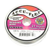 100' Accuflex beading wire 21 strand .019 inch width clear steel