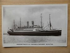 SS EMPRESS of SCOTLAND Canadian Pacific ship launched 1905