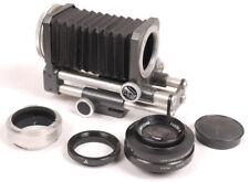 Novoflex Bellows w/Automatic 100mm F3.5 R Noflexar & MINA Adapter - NICE SET