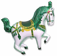CIRCUS Pony CIRCUS HORSE Green Carousel Carnival Birthday Party Balloon