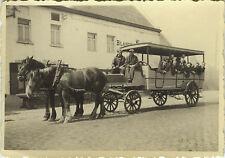 PHOTO ANCIENNE - VINTAGE SNAPSHOT - CHEVAL ATTELAGE FIACRE CALÈCHE - HORSE