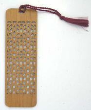 Custom Engraved Wooden Bookmark - Snowflake Cutout  (FREE SHIPPING)