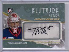 THOMAS McCOLLUM 10/11 ITG BTP Auto Autograph Rookie TMC Signed Hockey Card