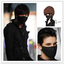 2Pcs New Black Health Cycling Anti-Dust Cotton Mouth Face Mask Respirator Unisex