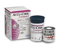 Accu-Chek Compact Diabetic Glucose Test Strips (x51)