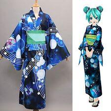 Vocaloid Hatsune Miku Project DIVA Yukata Kimono Miku Cosplay Costume Tailored
