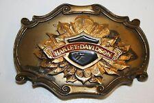 Vintage 1978 Harley Davidson Motorcycle Brass Buckle Biker 75th Anniversary Rare
