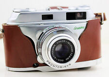 Vintage 35 mm Camera Arette IC German 1950s 1960s Leather Case Instructions