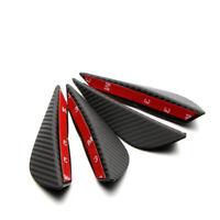 4Pcs Car Front Bumper Lip Splitter Fins Body Spoiler Canards Refit Carbon Black
