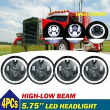 "4pcs 5.75"" inch LED Round Headlight Upgrade HI/LO Beam for Peterbilt 349 359"