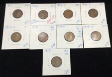 Lincoln Wheat Penny Lot Of 9 Cents