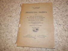1930.Therapeutica graphica.restauration livres estampes.Lonchamp