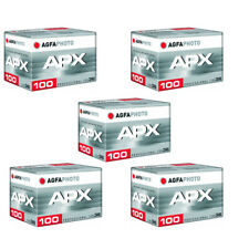 5 Rolls Agfa APX 100 36 Exposure Pro Black and White Negative 35mm Film