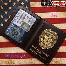 Resident Evil Stars Raccoon Police Dep. Chris Metal Badge ID Wallet In Stock USA