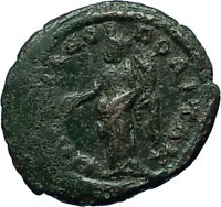 ELAGABALUS 218AD Marcianopolis Authentic Ancient Genuine Roman Coin TYCHE i66335