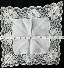 A12 Vintage Linen Flower Lace Floral Hanky Hankies Bridal Wedding Baptismal