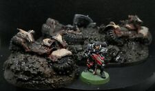 Warhammer 40k Terrain Scenery Wrecked Half Buried Space Marines Bike Squad