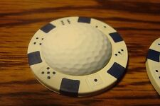 #1 GOLF BALL Photo Image Dice design Poker Chip,Golf Ball Marker, Card Guard   w