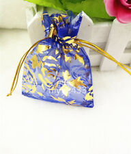 50pcs 7*9cm Jewellery Pouches Packing Organza Gift Bags Wedding Party blue