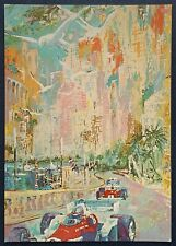 """GRAND PRIX De Monaco"" LeRoy Neiman Postcards Promo Art *Authentic*  Auto Race"