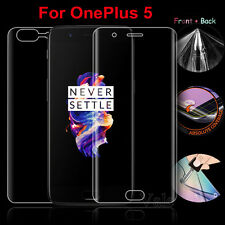 Front Back 3D Curved Edge TPU Full Screen Protector Film For OnePlus Five 5 Lot