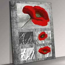 Three Flower Kiss Canvas Wall Art Picture Print