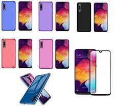 Funda Samsung Galaxy A50 / A30S (6.4) TPU GEL SILICONA LISA + CRISTAL NEGRO