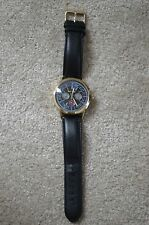 Paul Smith Mens Precision Black/Gold Leather Strap Watch P10006