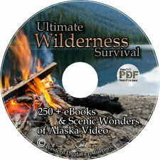 DVD Wilderness Outdoor Survival Tool Food Books Manual Hunting Fishing First Aid
