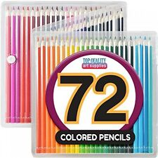 Colored Pencil Set with Case, 7Inch, Pack of 72