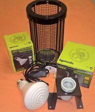 Reptile Vivarium Ceramic Heater 60w/100w Fitting and Guard Bundle AMAZING VALUE!
