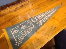 Vintage Connecticut Turnpike Pennant Memorabilia Advertising Automobilia