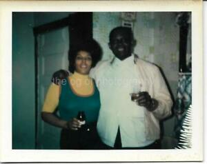 AMERICAN COUPLE Vintage POLAROID Found Photo FREE SHIPPING Original COLOR 911 17